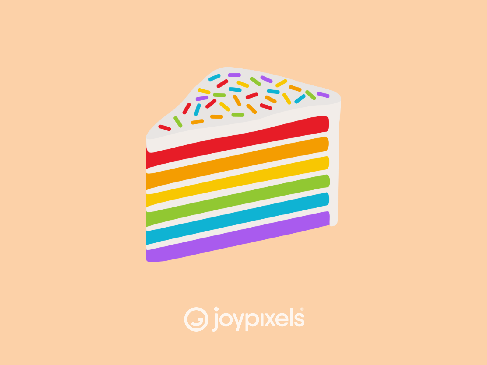 Joypixels Rainbow Cake Emoji Pride Pack Rainbow Cake Rainbow Emoji