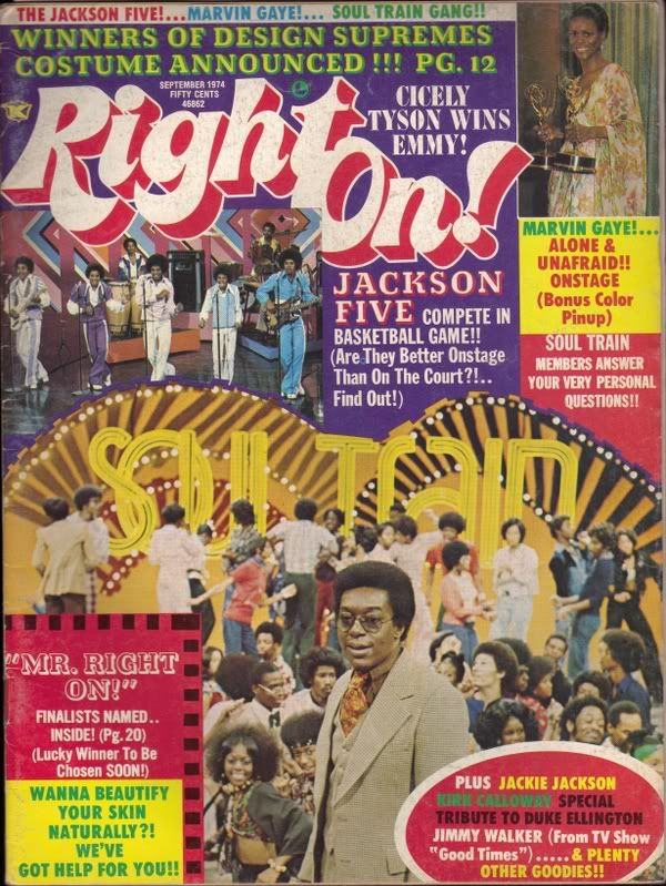 Soul Train Gang on Right On Magazine Covers