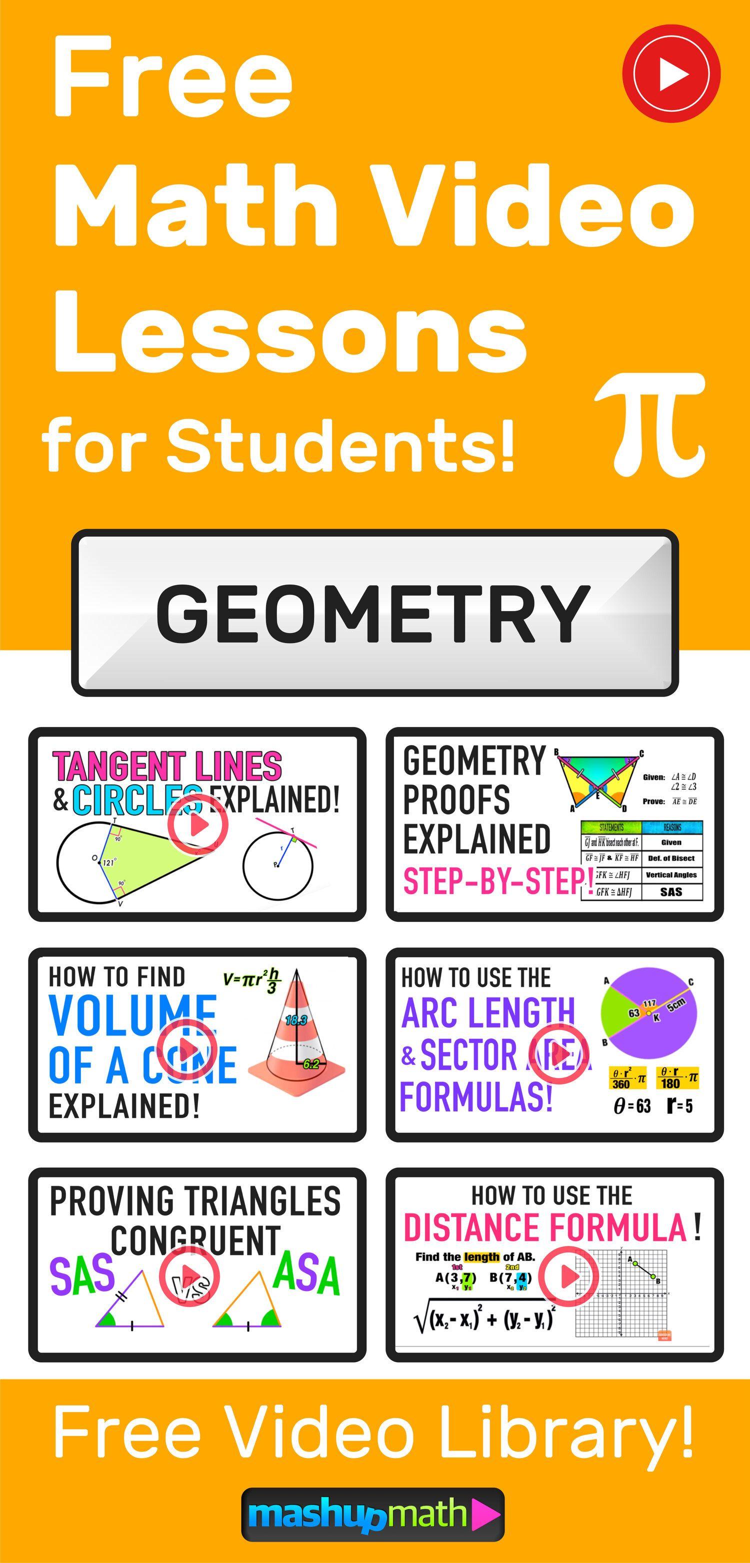 Geometry Videos Mashup Math In