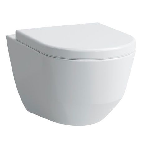 Laufen Pro Rimless Wall Hung Pan With Antibacterial Seat At Victorian Plumbing Uk Hanging Pans Simple Bathroom Designs White Wall Hanging