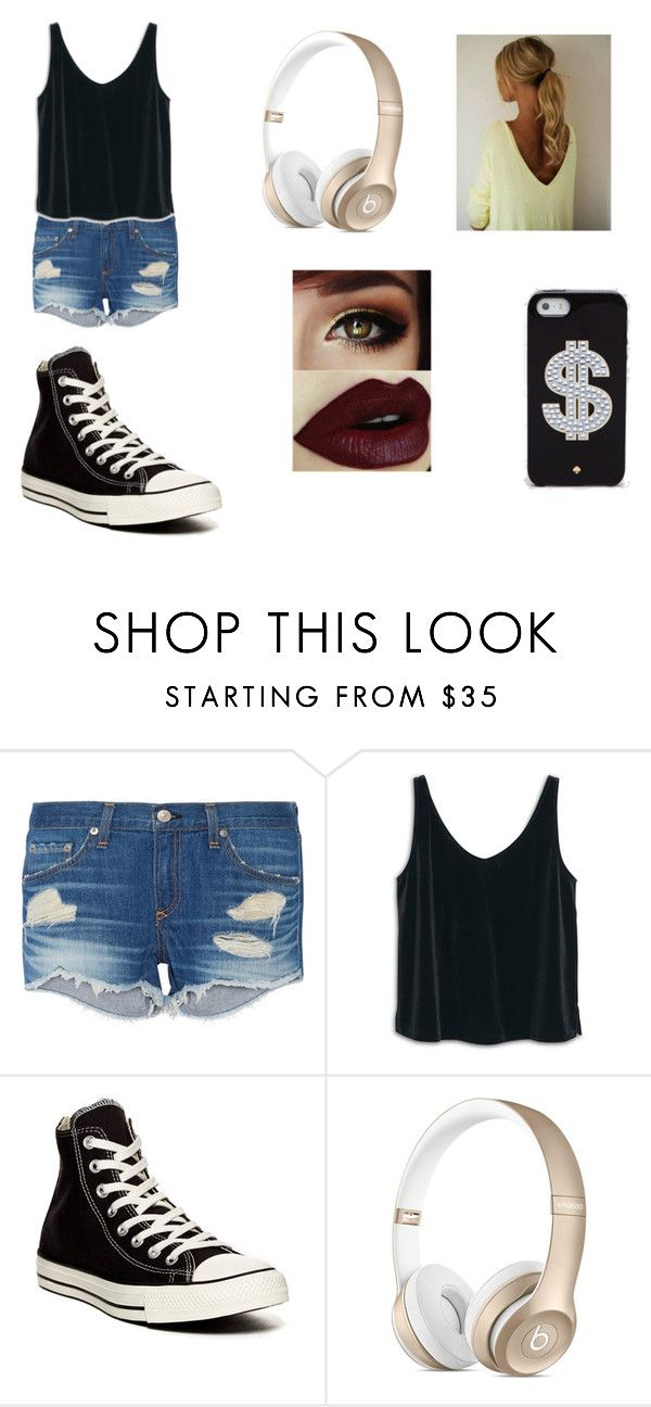 """""""Boss"""" by libertymarlee ❤ liked on Polyvore featuring rag & bone, MANGO, Converse and Kate Spade"""