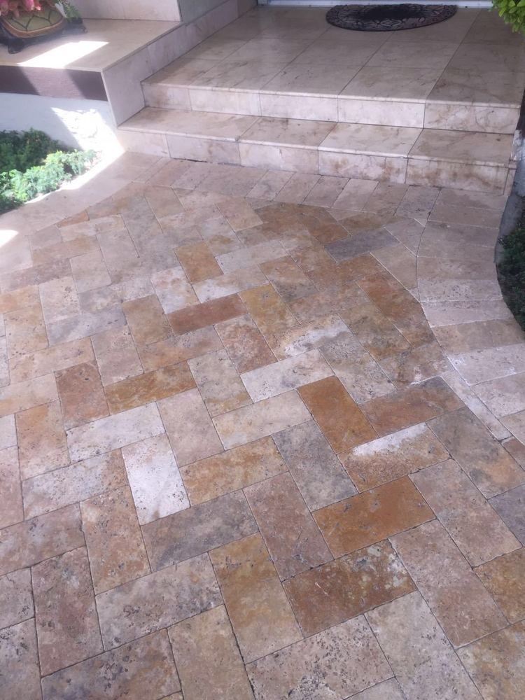 Details About Walnut Noce Travertine Tumbled Pavers 6x12 Travertine Travertine Pavers Wood Patio