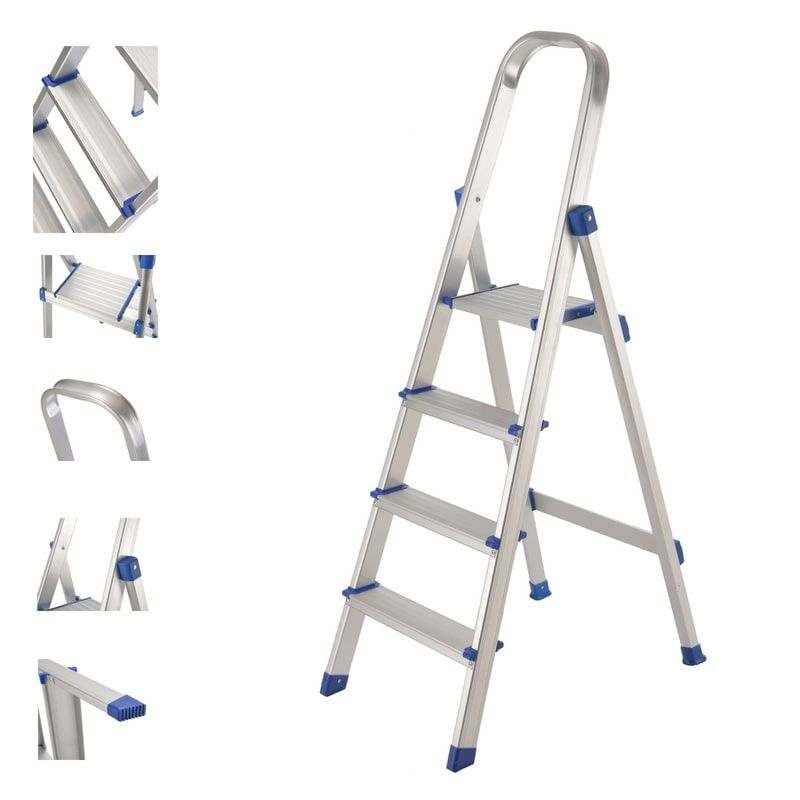 Buy Equal S Aluminium Multipurpose Heavy Duty Step Ladder At Best Price Foldingladder Foldableladder Folding Folda Aluminium Ladder Ladder Step Ladders