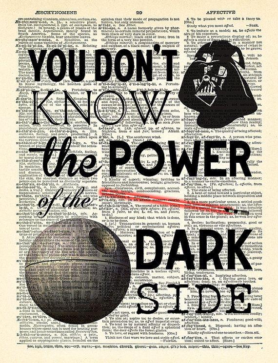 Star Wars Darth Vader póster, impresión de Star Wars, Star Wars ...