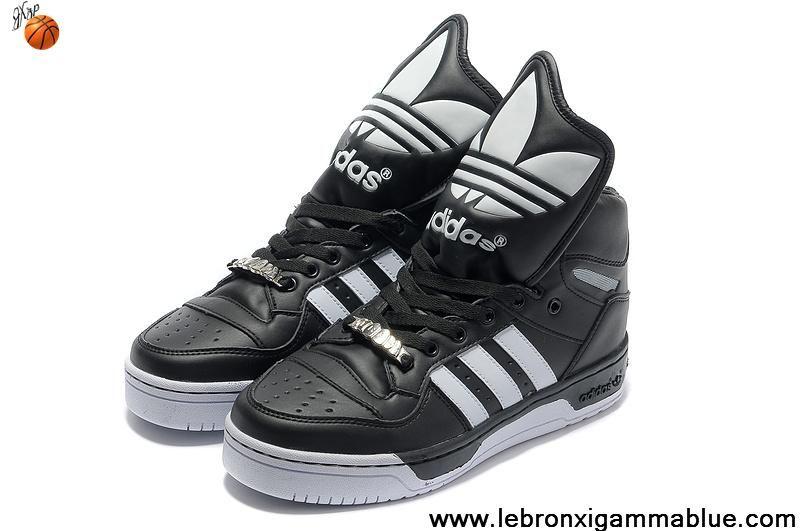 Wholesale Cheap Adidas X Jeremy Scott Big Tongue Shoes Black