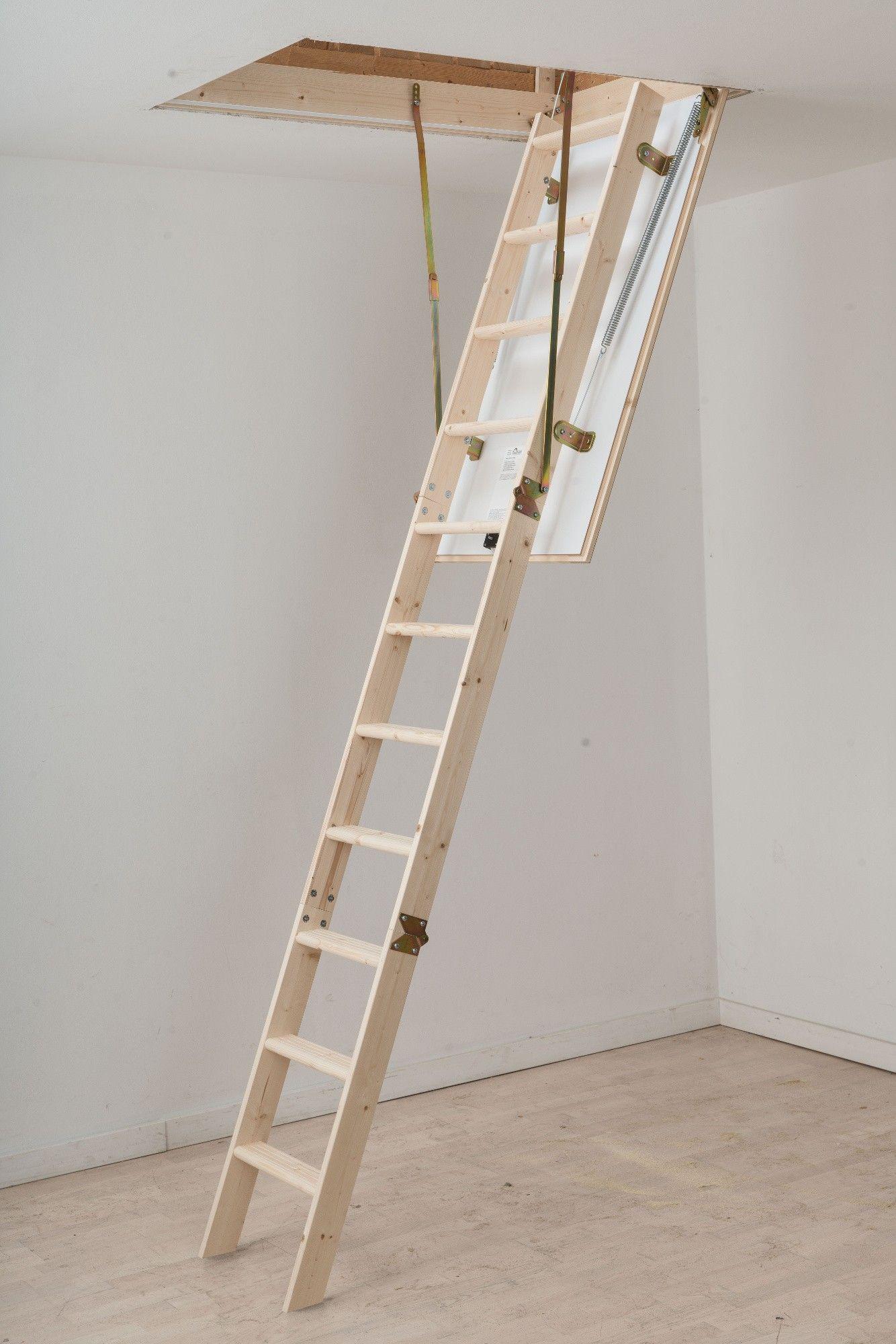 Dolle Hobby Timber Folding Loft Ladder 1200 X 700mm Attic Ladder Folding Ladder Ladder