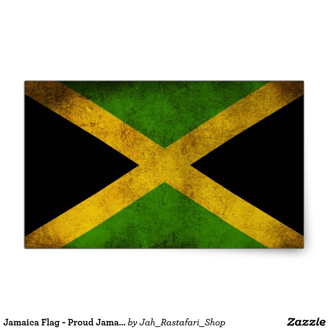 Jamaica flag proud jamaicans rasta sticker
