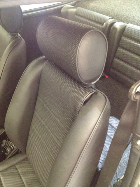 Basket weave recliners and rear seats re-trimmed to match