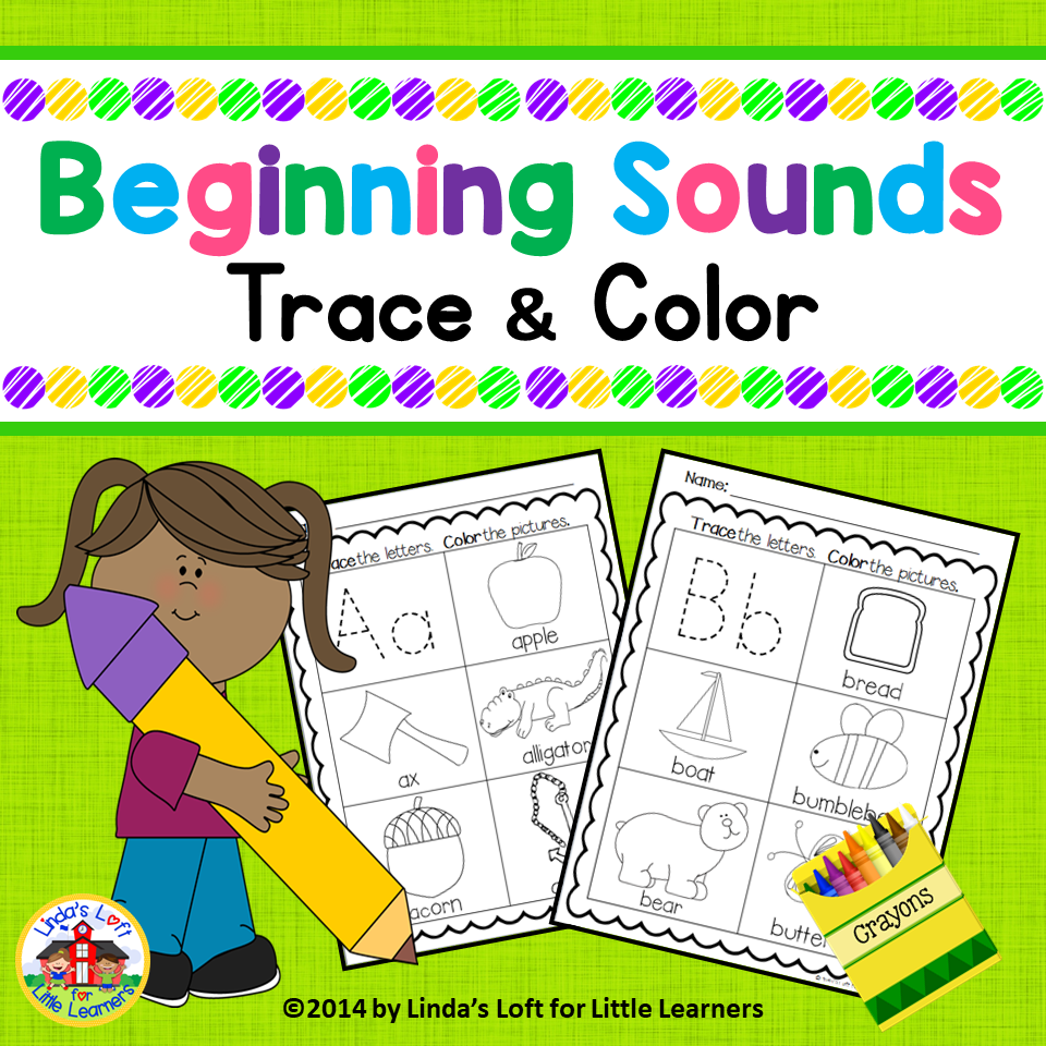Beginning Sounds Trace and Color Printables | Morning work ...