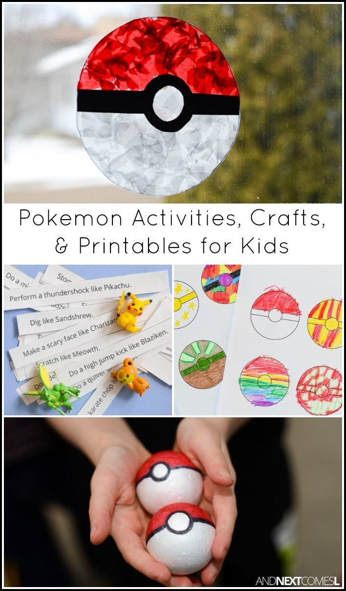 Pokemon Activities Amp Crafts For Kids Crafty Things For