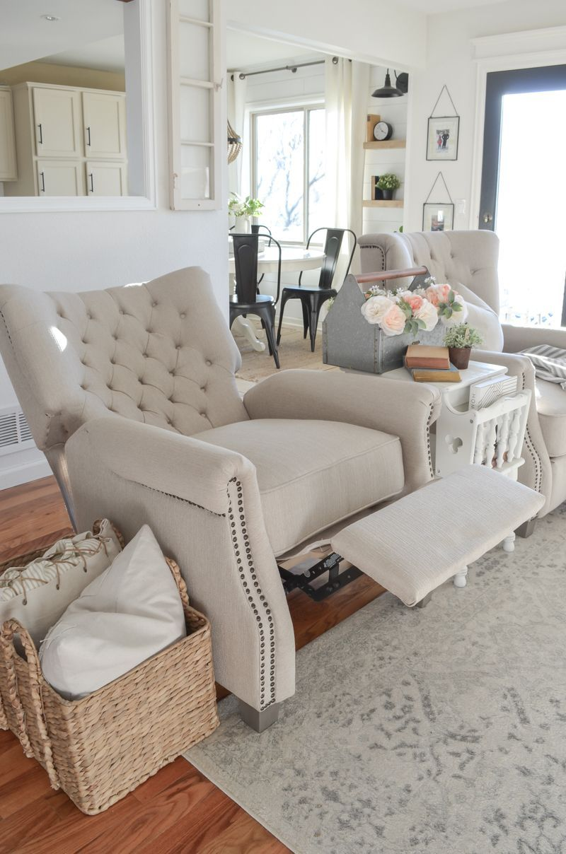 Review Of Our Walmart Recliners Living Room Decor Inspiration With Affordab Living Room Decor Inspiration Living Room Recliner Farmhouse Living Room Furniture