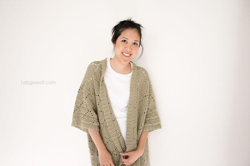 Summer Diamonds Kimono Cardigan | Ganchillo, Motivo de ganchillo y ...