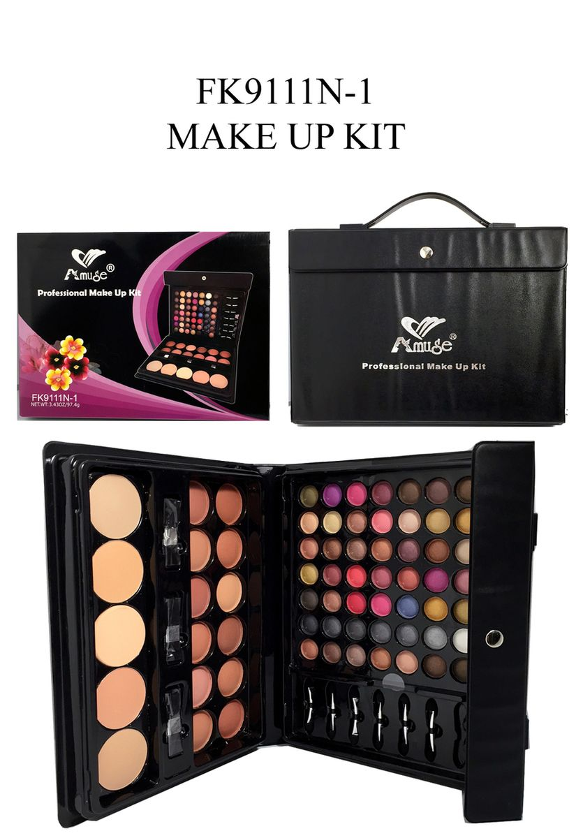 Amuse Professional Makeup Kit eyeshadow, blusher, pressed