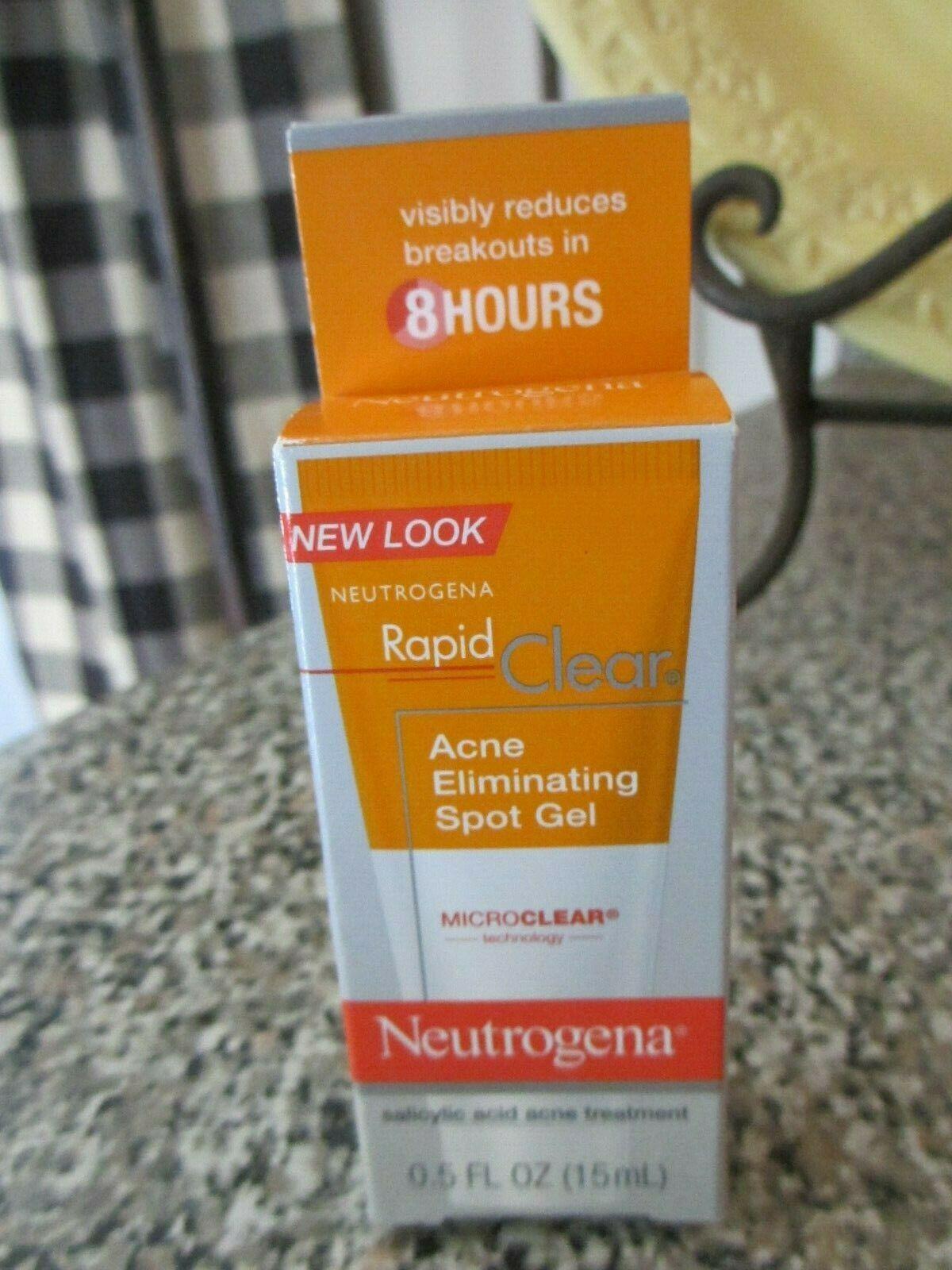Neutrogena Rapid Clear Acne Eliminating Spot Gel 0 5 Oz Exp 7 2020