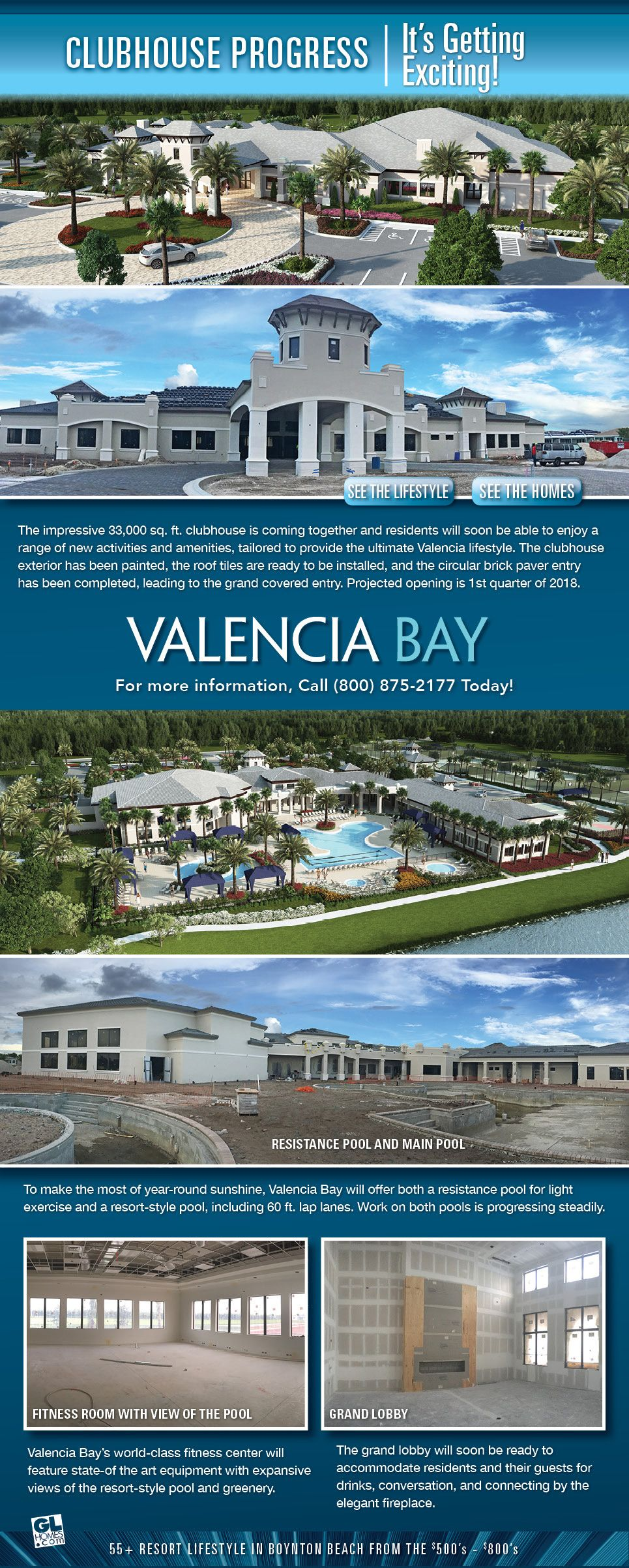 Valencia Bay Club Progress Photos In Boynton Beach Fl Gl Homes
