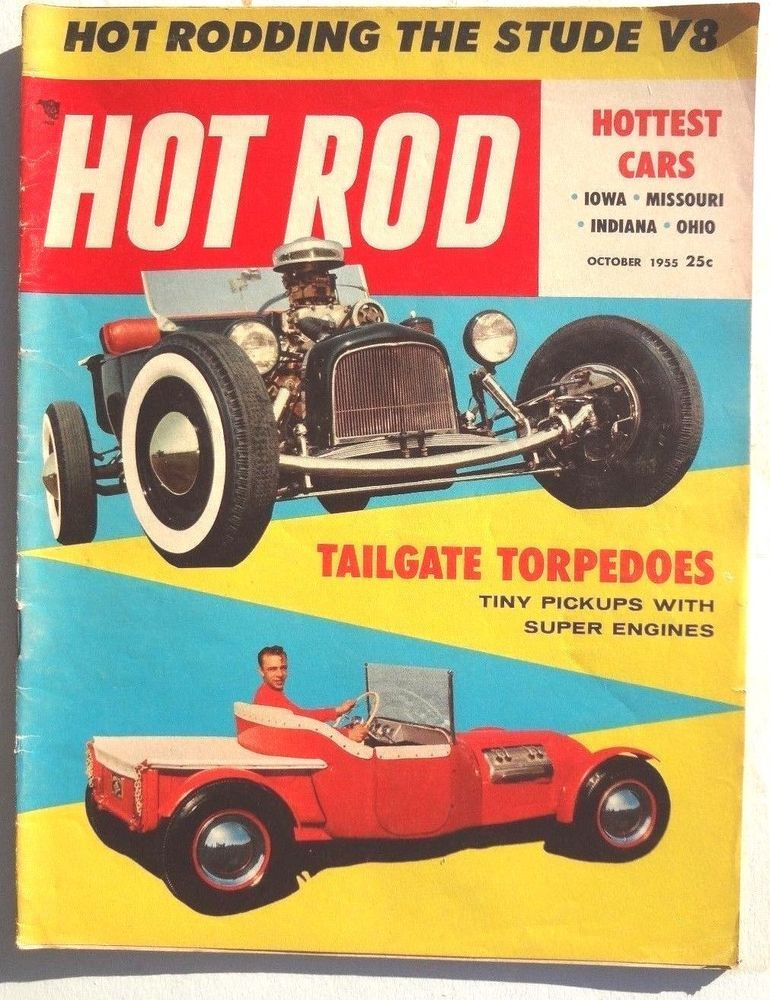 Vtg Hot Rat Rod Car Magazine - October 1955 HOT ROD (Hottest Cars ...