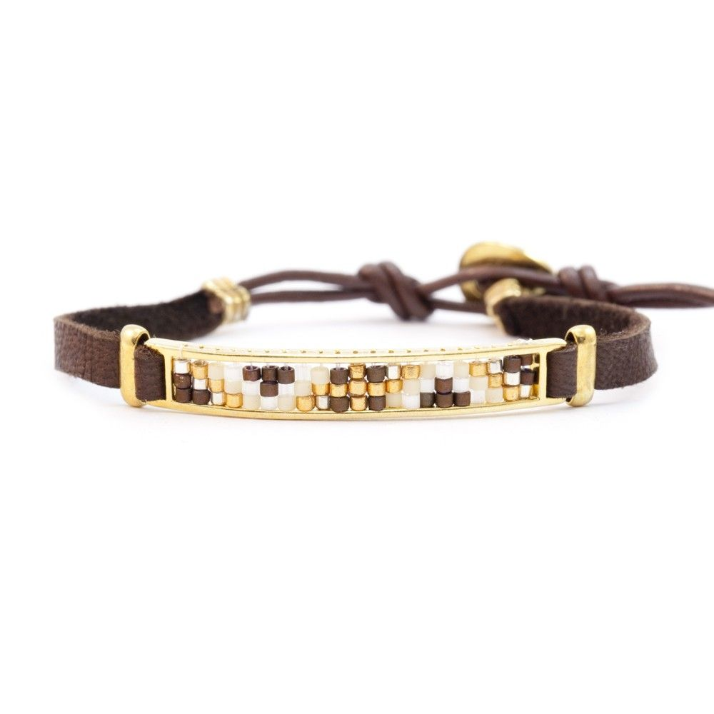 Chan Luu - Brown Mix Gold Bar Single Wrap Bracelet on Brown Leather, $115.00 (http://www.chanluu.com/bracelets/brown-mix-gold-bar-single-wrap-bracelet-on-brown-leather/)