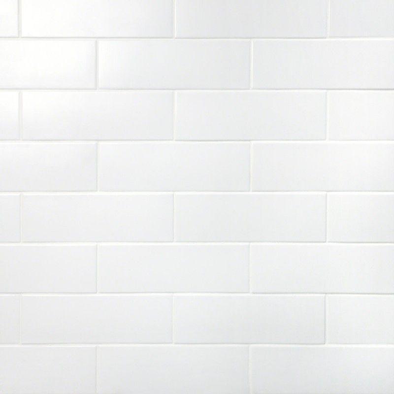 London White 3x9 Ceramic Tile Ceramic Subway Tile White