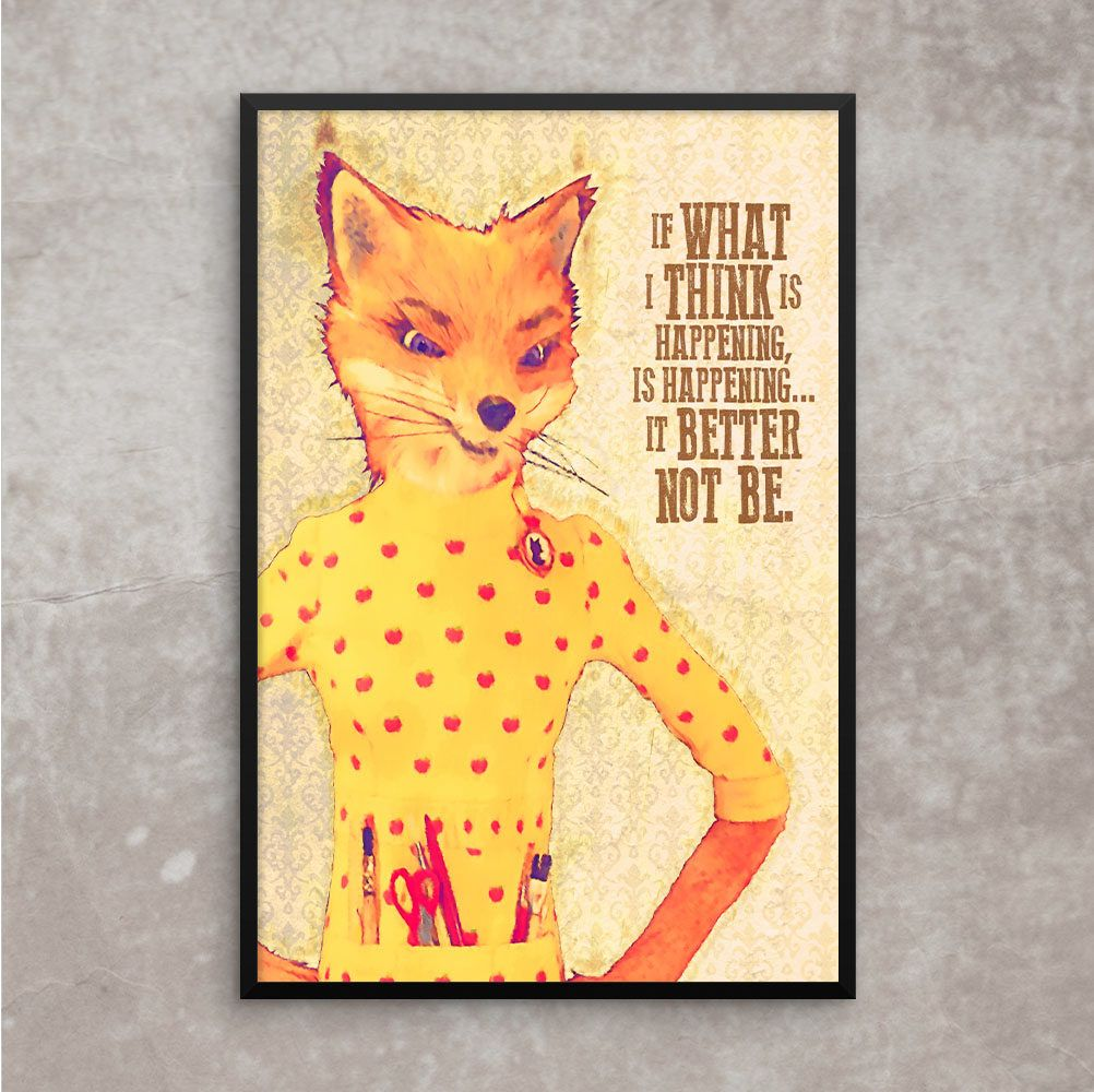 Fox Yeah Poster Art Print Home Decor