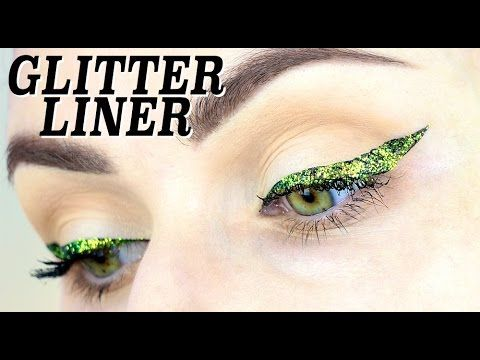how to do glitter eye liner! amaziiing! 2 methods!!! #glittereyeliner