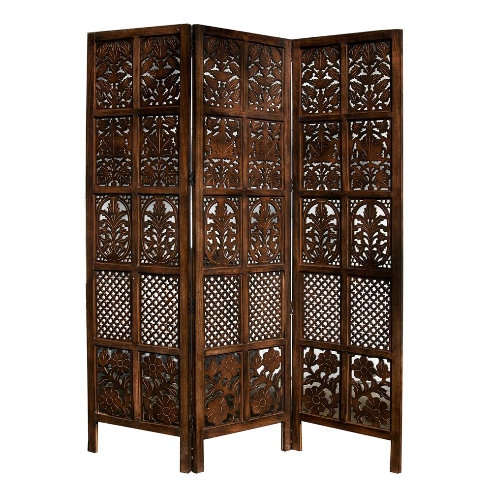 beautiful idea shoji room divider. Traditionally used as an accent piece or to segment a small space  this three panel room divider shoji screen adds instant style any home decor Hand Carved Patterned Mango Wood Room Divider Three Panel Screen
