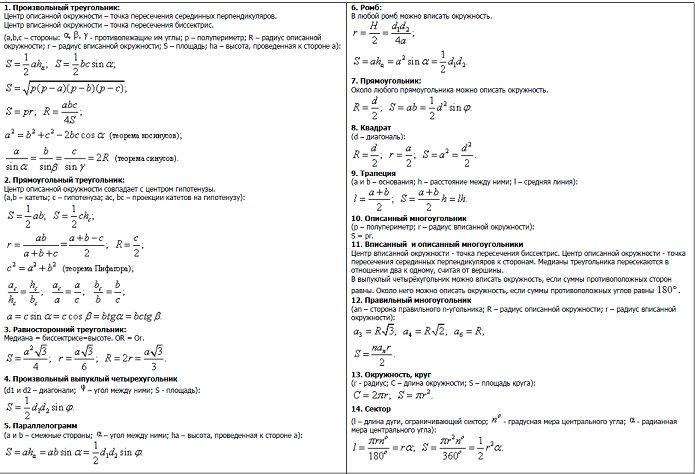 Гкр геометрия 9 класс са
