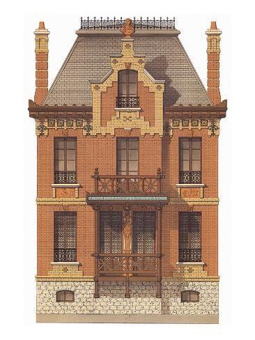 'Victorian House, No. 7' Art Print - | Art.com