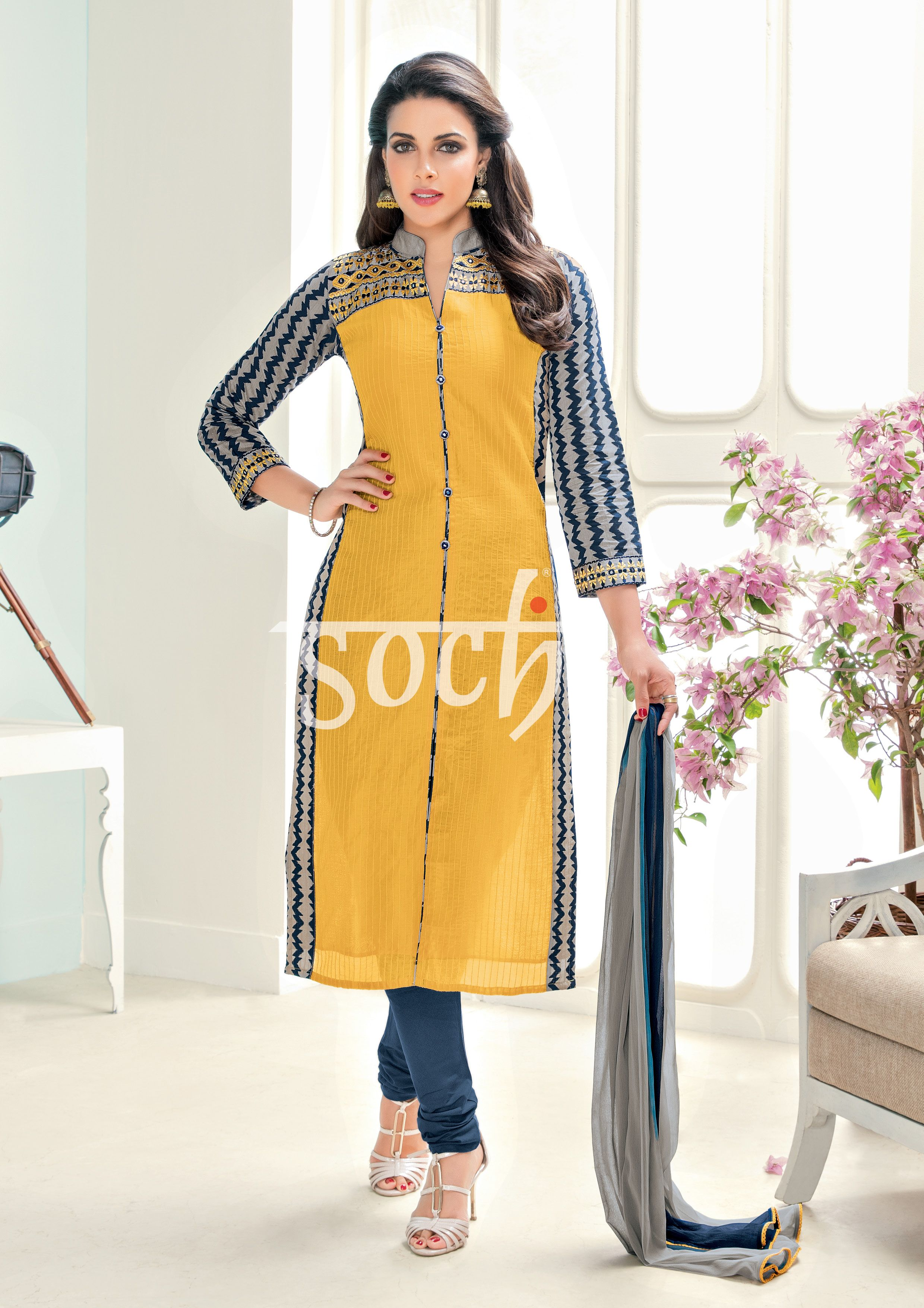 d5169b7f8e Kurti Patterns, Dress Patterns, Salwar Suits, Salwar Kameez, Kurta Designs,  Cut