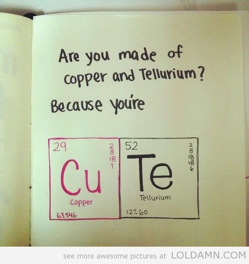 Great pick-up line!