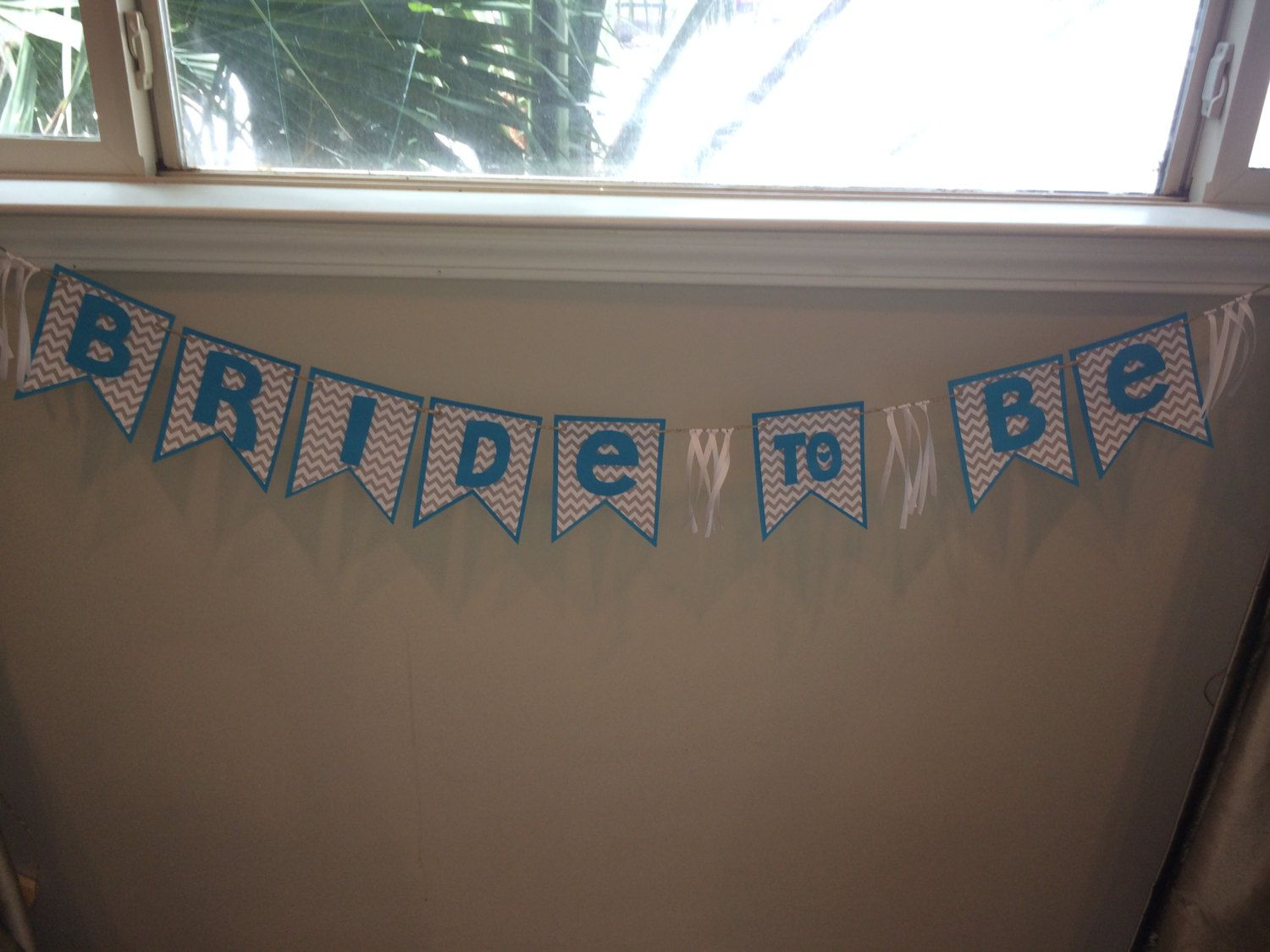 Bride to Be Wedding Shower Banner- Teal and Gray by TookiesLLC on Etsy