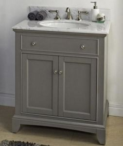 Bathroom Vanity 30 X 21 fairmont designs 1504-v30 smithfield medium gray bathroom vanity