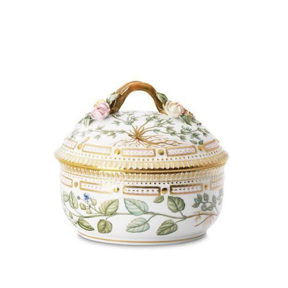 Flora Danica Sugar Bowl and Cover   Royal Copenhagen