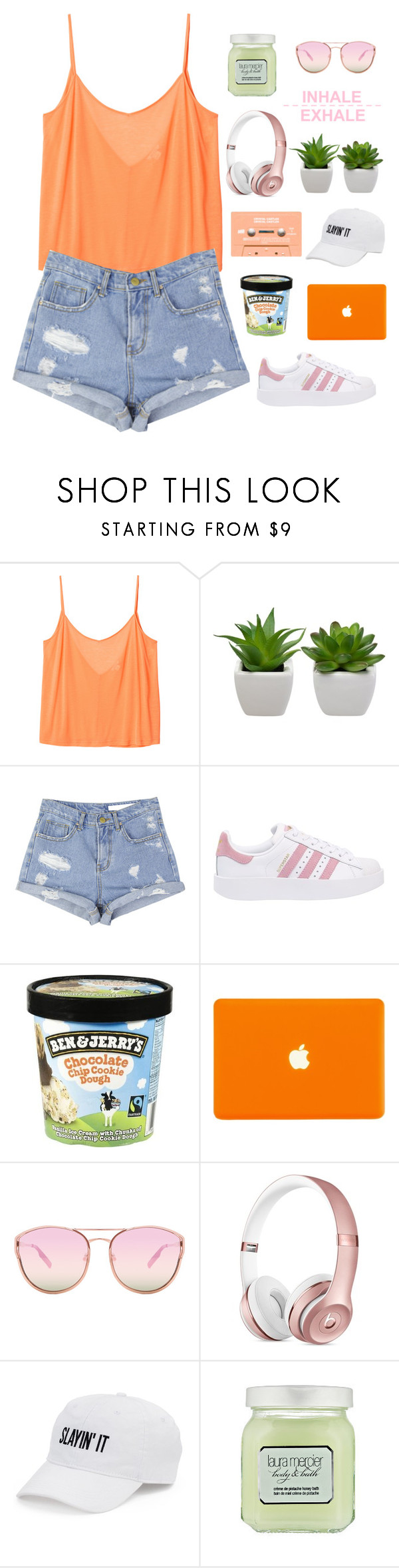 """""""Who Cares If One More Light Goes Out? Well I Do"""" by just-a-reject-x ❤ liked on Polyvore featuring Monki, StyleNanda, adidas Originals, Quay, SO, Laura Mercier, country and liasfashion"""