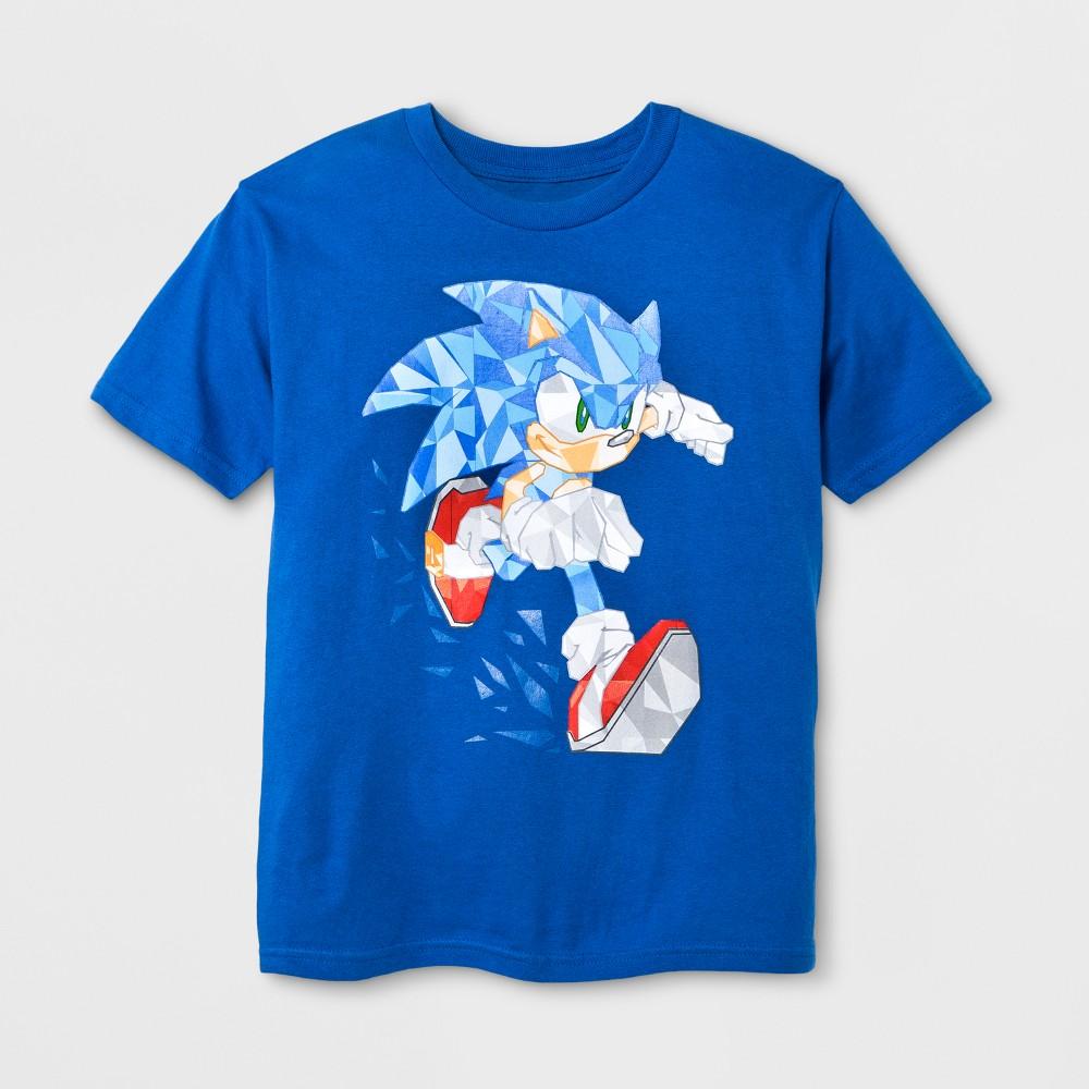 Sonic The Hedgehog Boys Blue Character Cartoon T-Shirt