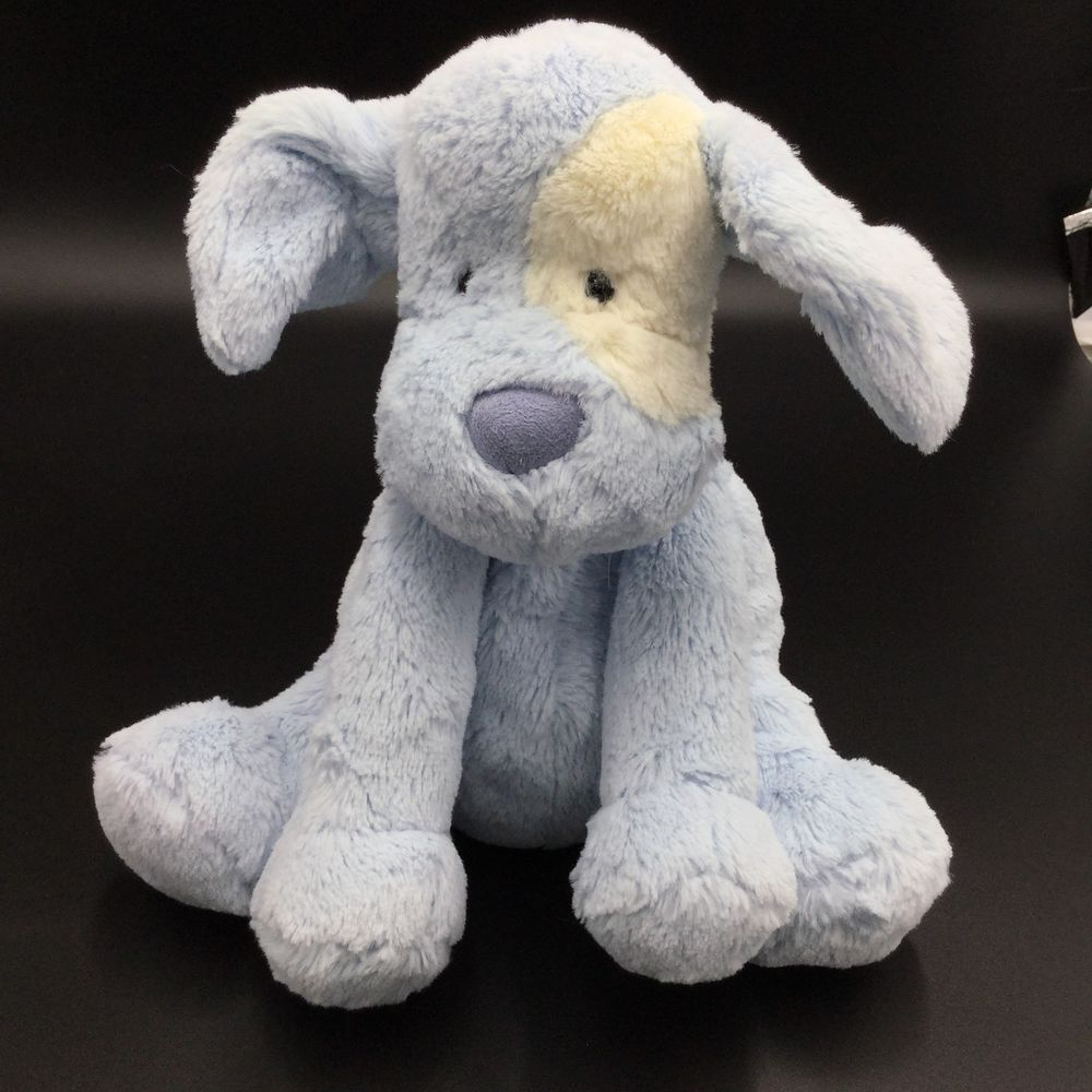 Little Jellycat Baby Blue Patches Puppy Dog Plush Soft Toy