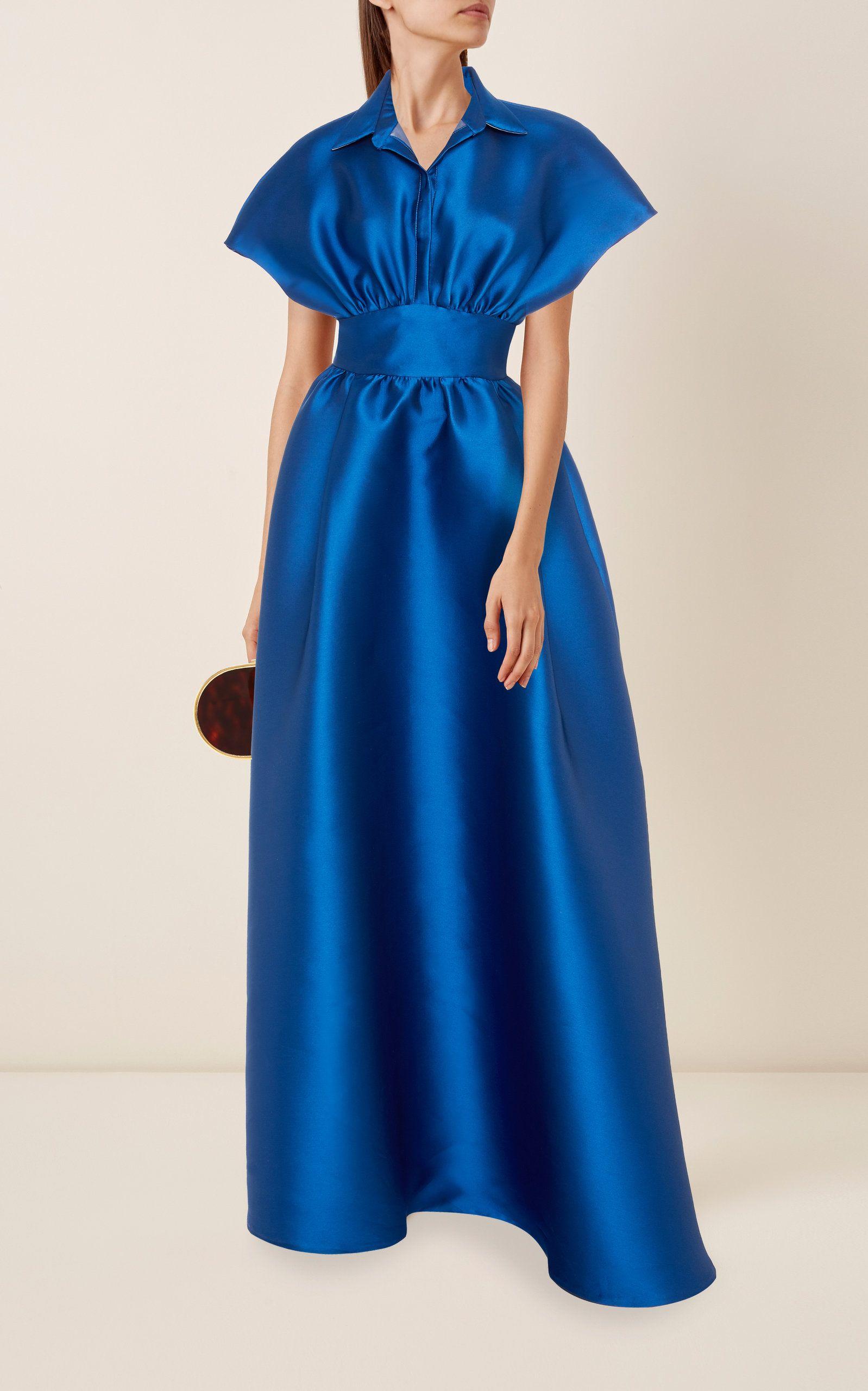 Lela Rose Gathered Duchess Satin Gown