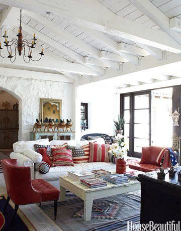 #patriotic #red #white #blue #laborday #inspiration #housebeautiful