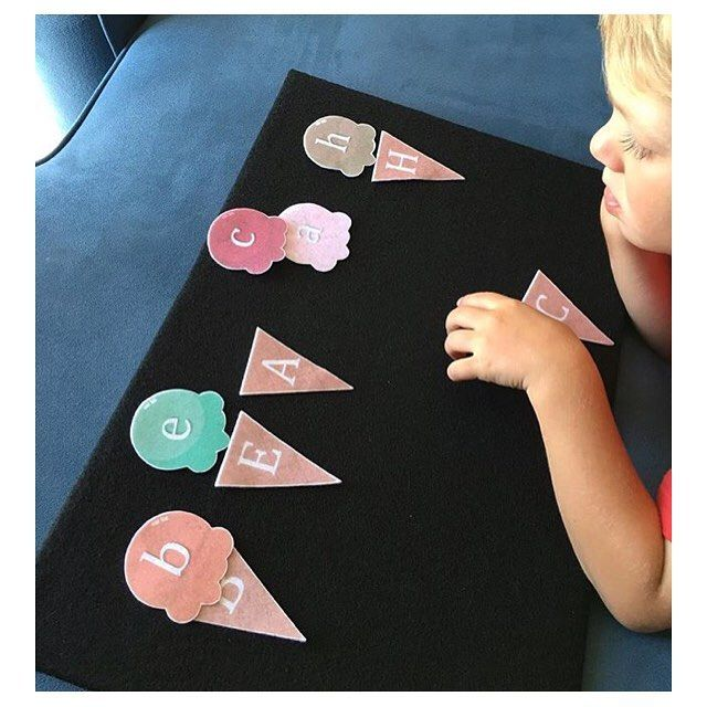 Felt Letters Matching Game  Letter Recognition Learning Activity