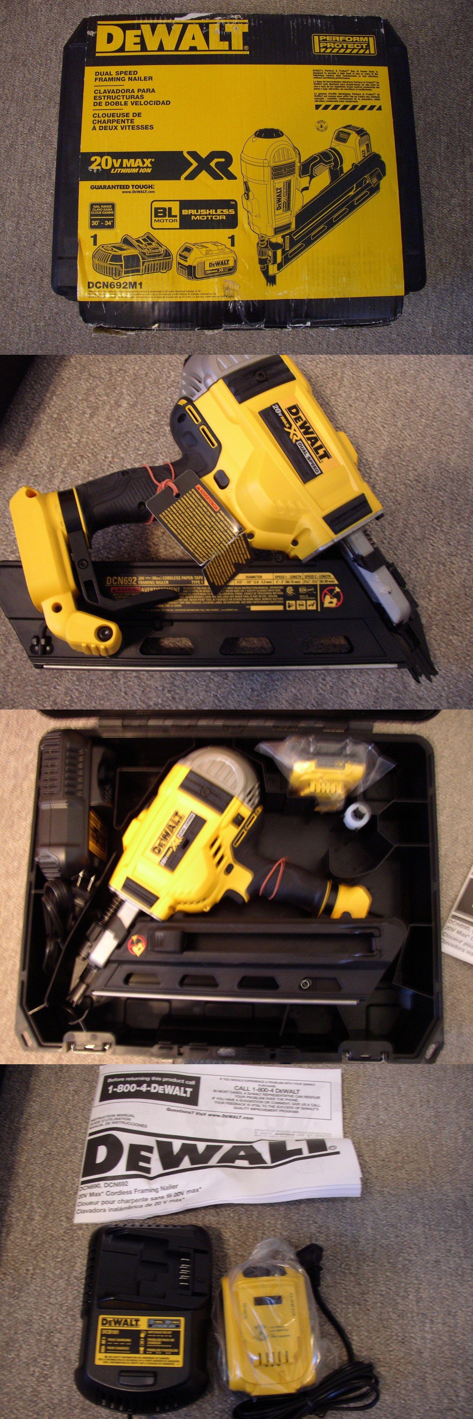 Framing Guns 50378: New Dewalt Framing Nailer Dcn692m1 20 Volt Max ...