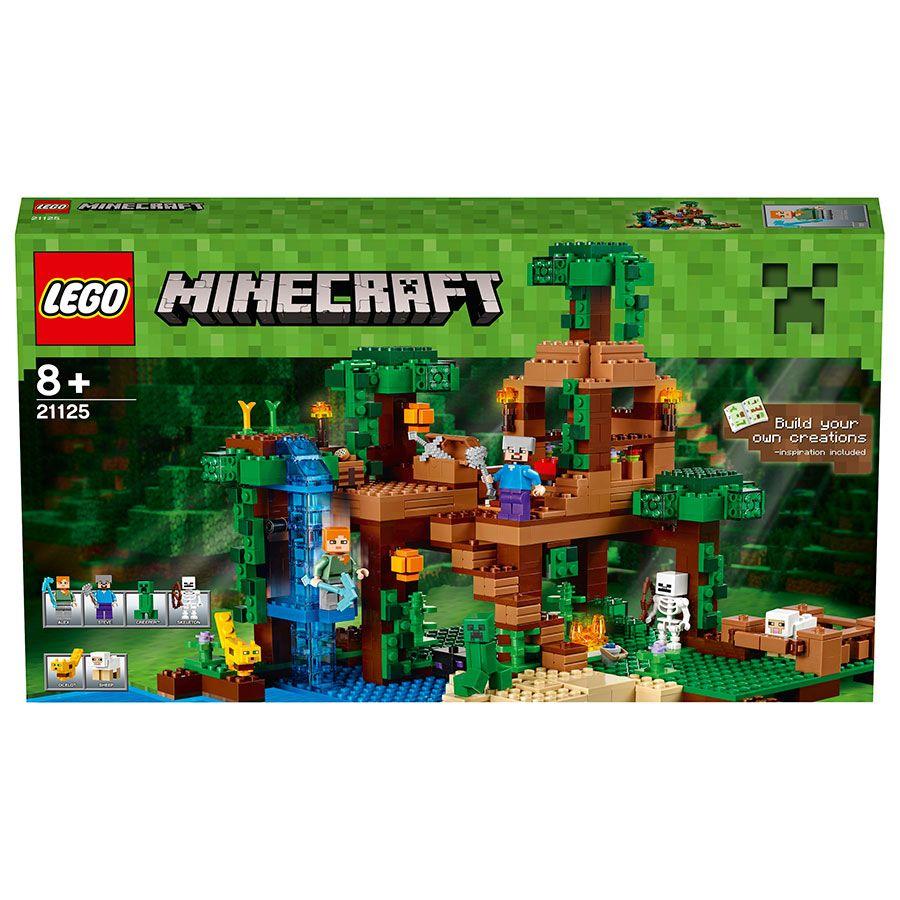 Pinterest Jungle Buildings: LEGO Minecraft The Jungle Tree House 21125