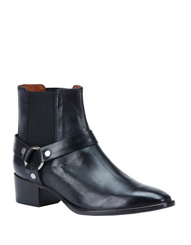 2911148da87 Frye Dara Leather Harness Ankle Boots Women s Black 6.5