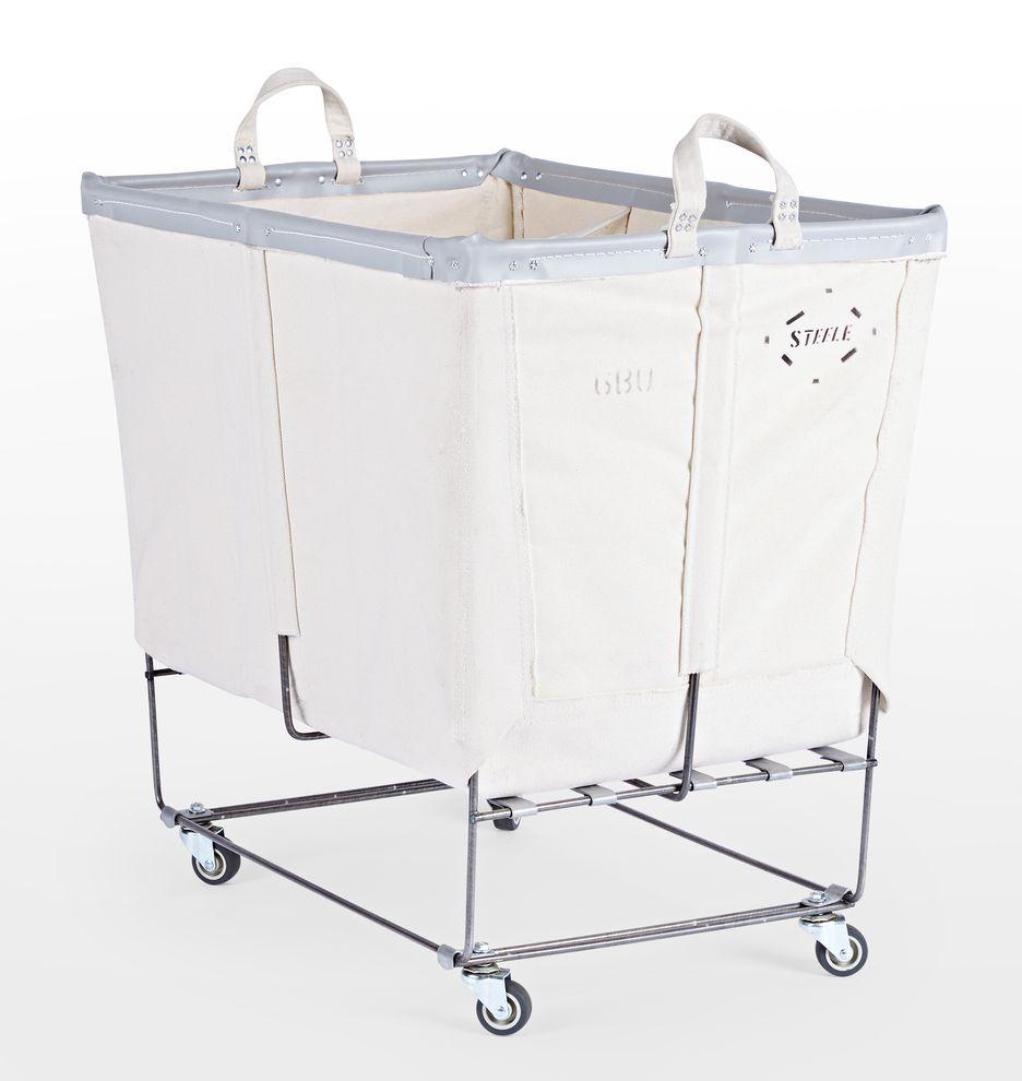 6 Bushel Canvas 3 Section Laundry Bin Laundry Bin Clean House