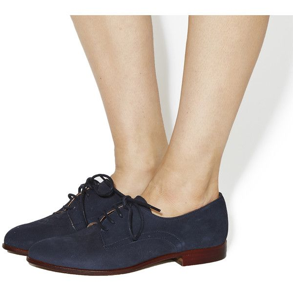 Office Reach Softy Lace Up Brogues ($36) ❤ liked on Polyvore featuring  shoes,