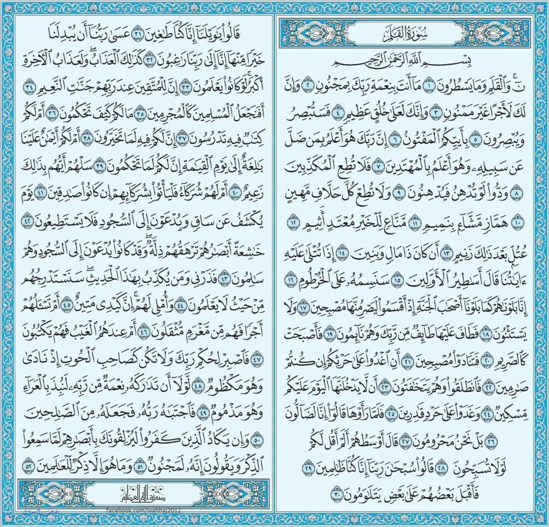 سورة القلم Quran Book Holy Quran Book Islam Facts