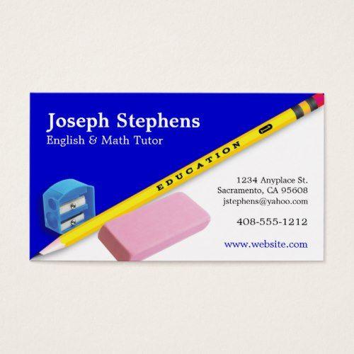 Teacher mentor or tutor business card business cards pinterest teacher mentor or tutor business card colourmoves