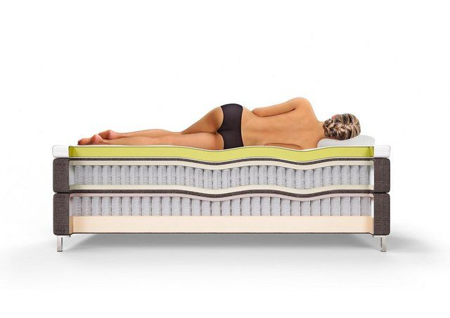 Photo of Schlaraffia box spring bed »Aida«, incl. BULTEX® topper, floating optic foot online OTTO