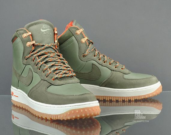 free shipping c8564 5db36 Nike Air Force 1 Hi Deconstruct Military Boot – Silver SageMedium Olive