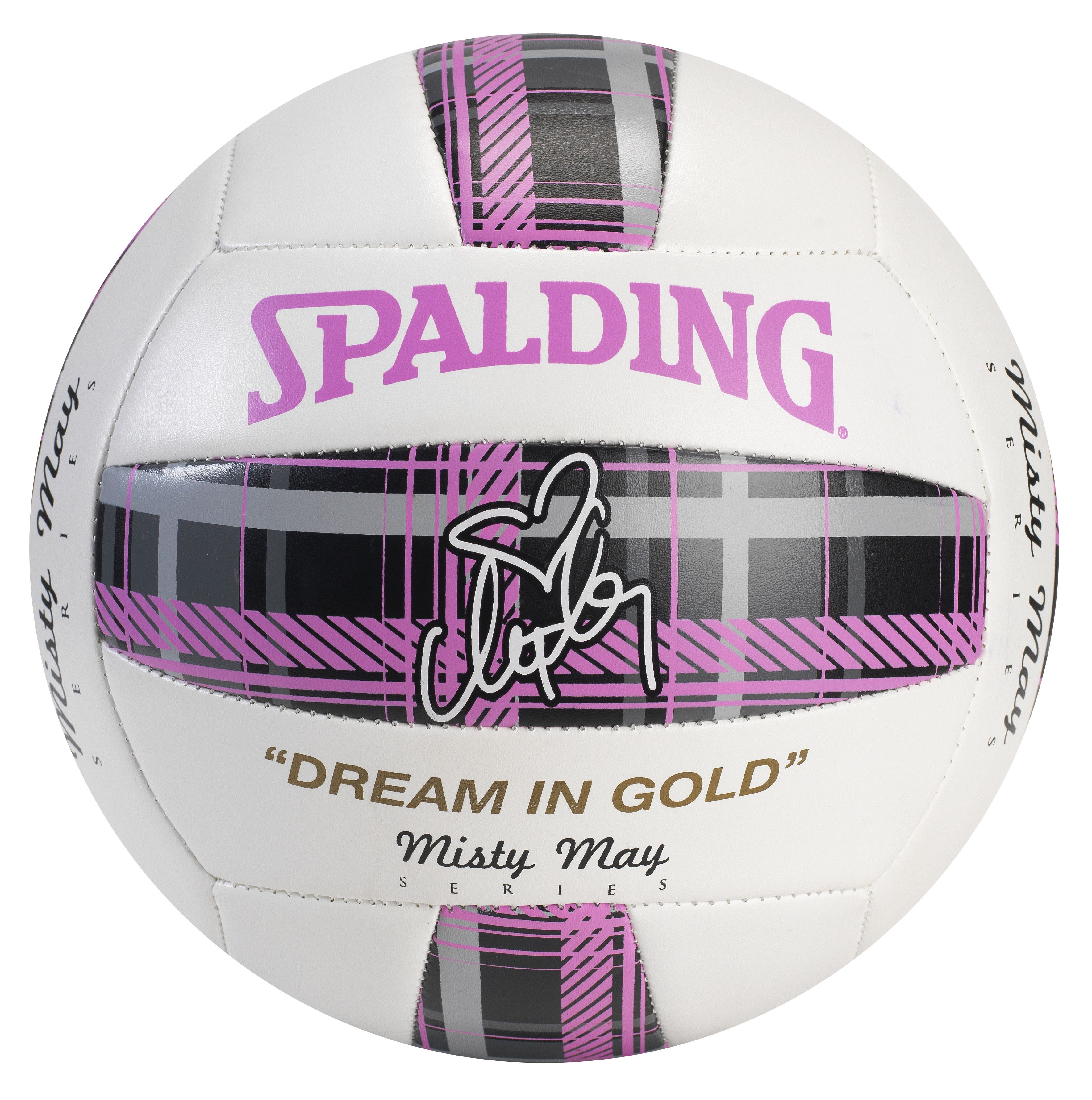 Misty May Ball By Spalding Available At Target And Other Fine Sporting Goods Retailers Volleyball Basketball Equipment Volleyball Gear