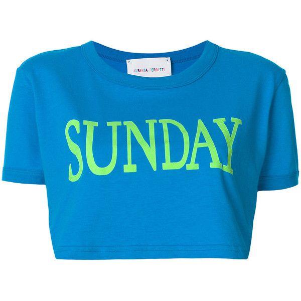 Alberta Ferretti Sunday cropped T-shirt Free Shipping Sneakernews u6ECLL8