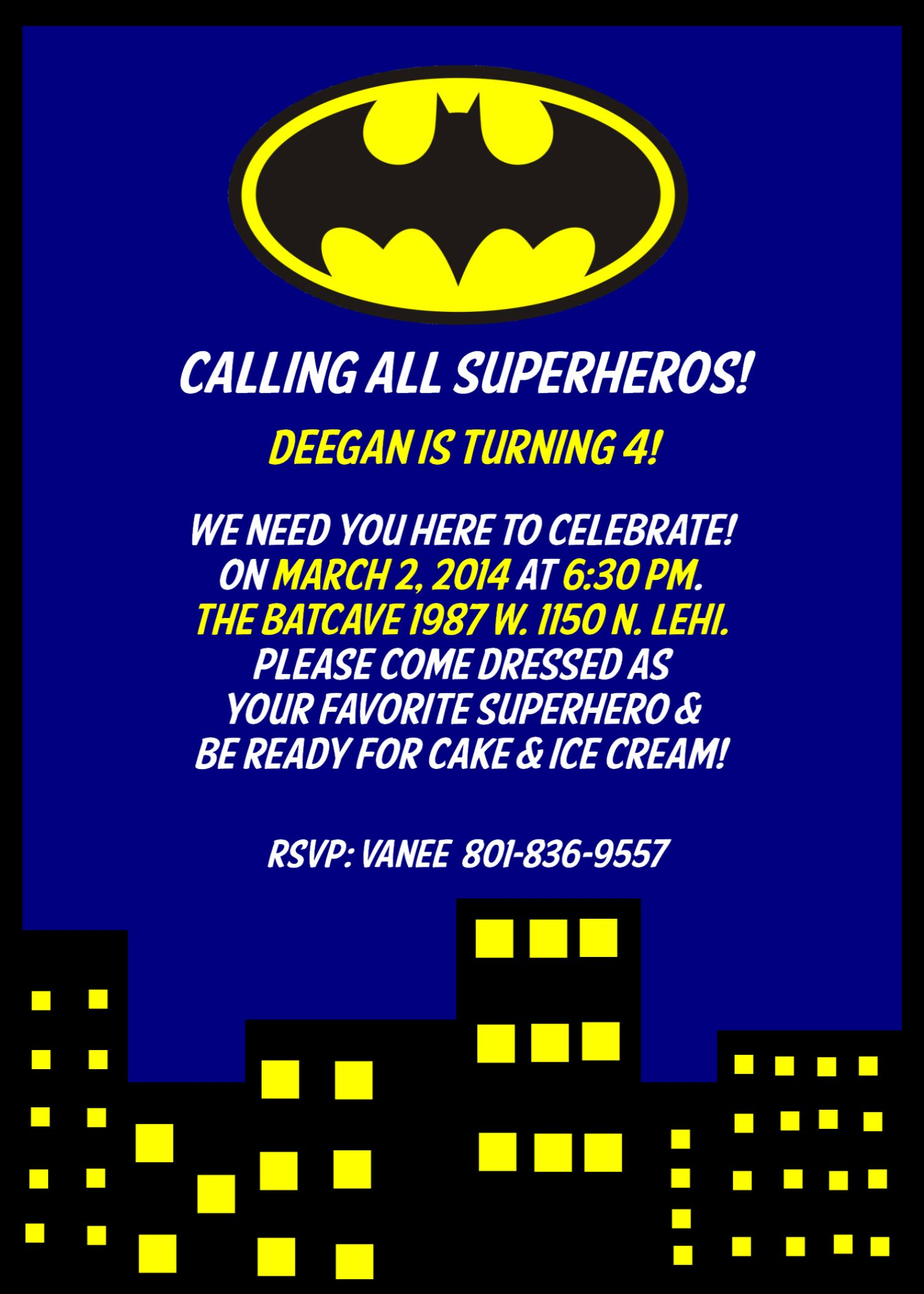 Batman Birthday Invitation | Fødselsdag | Pinterest | Batman ...